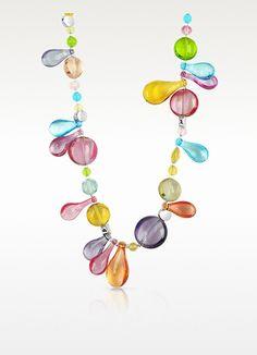 Antica Murrina Lapilli - Long Murano Glass Necklace