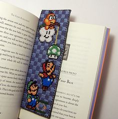 Super Mario Bookmark X-Stitch by Shellfx.deviantart.com on @deviantART