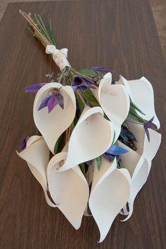 Paper Calla Lilies Wedding Bouquet - SALE -. $300.00, via Etsy.