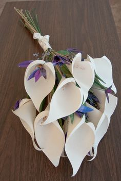 Paper Calla Lilies Wedding Bouquet- I love this!!
