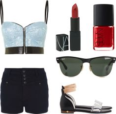 """""""Red Lips. Red Nails."""" by inskydiamonds ❤ liked on Polyvore"""