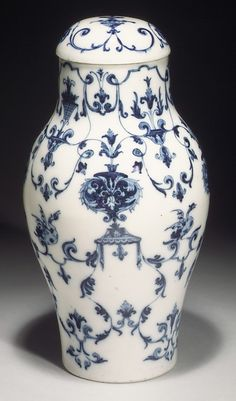 Vase with Cover, France. soft paste porcelain, circa 1695-1710