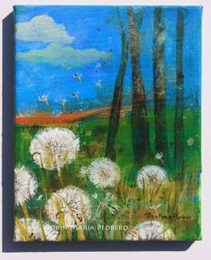 Dandelion Wishes  painting on canvas #‎SavvyBIZSolutions‬