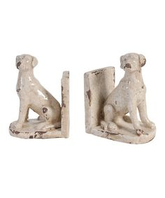 Look what I found on #zulily! Rustic Dogs Bookends #zulilyfinds