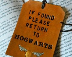 Leather Luggage Tag - Harry Potter