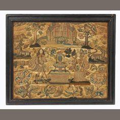 A mid 17th century stumpwork picture