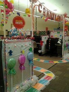 candyland at work christmas cube decorationsoffice - Candyland Christmas Door Decorations