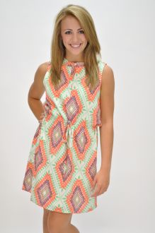 Diamond Aztec Dress