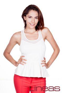 Blusa, Modelo 18681. Precio $200 MXN Pantalón, Modelo 18211. Precio $190 MXN #Lineas #outfit #moda #tendencias #2014 #ropa #prendas #estilo #primavera #outfit
