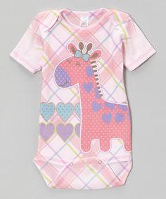 Fuchsia Plaid Giraffe Bodysuit
