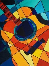 cubism, geometric shapes and color theory
