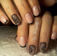 Square Nail Designs, French Nail Designs, Nail Art Designs, Fabulous Nails, Perfect Nails, Gelish Nails, My Nails, French Nails, Cute Nails