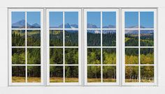 Colorado Rocky Mountains White Window Frame View by James BO Insogna Unique House Design, Unique Home Decor, Old Windows, Windows And Doors, Window Manufacturers, Home Budget, Exterior Cladding, Elegant Homes, Rocky Mountains