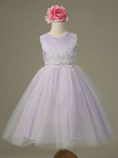 Lilac Cinderella Tulle Flower Girl Dress