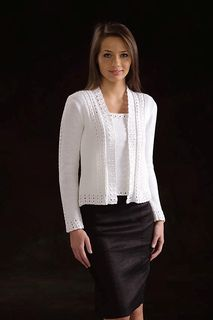 Ravelry: Eyelet and Ruffle Cardigan pattern by Ann McCauley Cardigan Pattern, Crochet Cardigan, Knit Crochet, Casting Off Knitting, Raglan Pullover, Summer Sweaters, Knit Jacket, Knitting Stitches, Cardigans For Women