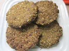 Hemp Protein Burgers with chia, beans, pumpkin seeds