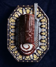 The most delicious, easiest Bûche de Noël, ever || from Real Simple