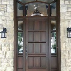Side Light Entry Doors | Amberwood Doors Inc. Modern Wooden Doors, Wooden Main Door Design, Entry Doors, Front Doors, Double Doors Exterior, Tall Cabinet Storage, New Homes, House Design, Front Porches