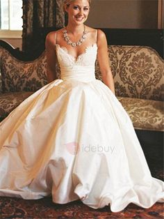 Tidebuy.com Offers High Quality Spaghetti Straps Lace Top A-Line Wedding Dress, We have more styles for A-Line Wedding Dresses