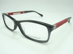 4b1aade5a5 Chanel 3193 Eyeglasses in Black mix red Chanel Eyeglasses 3193 Frame Size   55-14