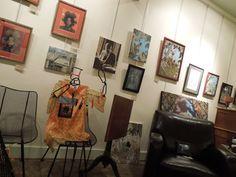North wall of the studio, Greenway Studio.  Art by Matt P. Foreman and James F. Baldwin, jr.