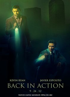castlefan-always:    Ryan and Esposito - BACK IN ACTION. 9 . 24 . 12