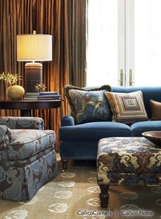 Mirador From Imperial Garden Collection Colorful Home Decor Pinterest Living Rooms Blue