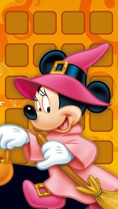 Minnie as a witch