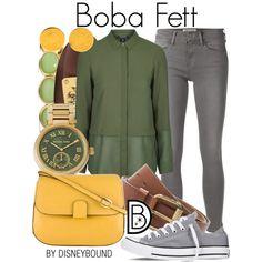 Boba Fett by leslieakay on Polyvore featuring Topshop, Frame Denim, Converse, Tula, Michael Kors, Coach, Monet, MANGO, Hermès and disney