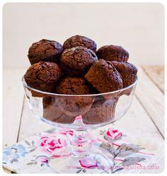Double Valor chocolate muffins, by Mensaje en una galleta