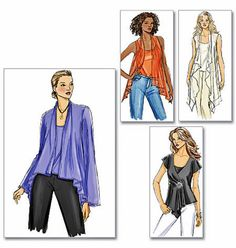 Easy Loose Fitting Tops Pattern 2 Hour Sewing Pattern by blue510
