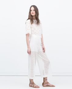 Image 1 of CUT-OUT WIDE CULOTTES from Zara