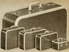 JC Higgins Luggage 1952 Price: $8.85 - $15.95 Description Inexpensive J.C. Higgins cases with fashionable appearance of much higher priced luggage. New vinyl impregnated canvas covers look like expensive linen covers. Resist scuffs, scratches, dirt, grease. Clean with damp cloth. Exclusive, white bindings of calf-grained vinyl plastic resist scuffing. Brass-plated steel hardware. Bottom studs, three stop hinges. Plastic handles. Colors are maroon or medium brown.