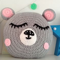 Bear pillow Bear Cushion decorative Pillow Decorative by Daisymooo