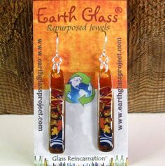 Earth Glass Project Troegs Brewing Beer Earrings 2 Label Choices