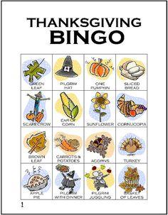 #Thanksgiving #Bingo Printables