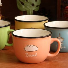 Cookies candy color zakka ceramic cup milk coffee mug