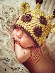 Newborn Giraffe Beanie by jennycweber on Etsy, $20.00