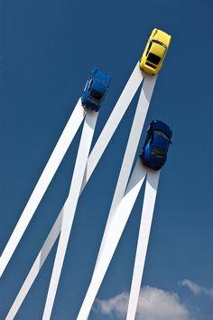 Porsche Sculpture By Gerry Judah Reaches New Heights | http://www.yatzer.com/gerry-judah-porsche