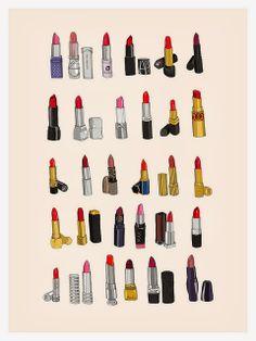 Ma petite collection de rouges à lèvres