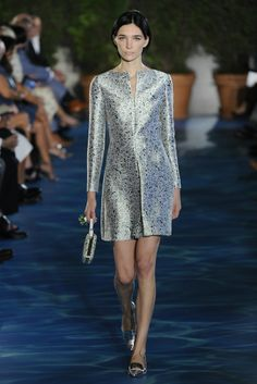 Luxe printed metallic in clean lines. Tory Burch RTW Spring 2014 #nyfw