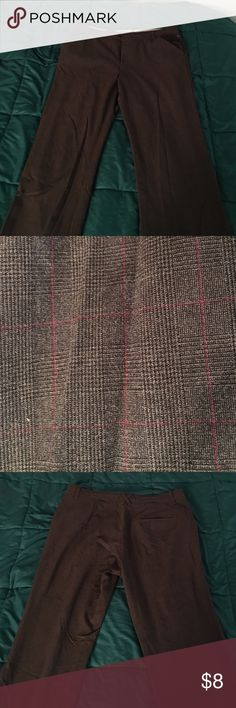 Stretch Fit Brown Dress Pants Low Waist Old Navy Dress Pants. Brown with a faint red patterned-stripe (pictures) Old Navy Pants Trousers