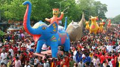 Bengali New Year Takes a Colorful Stand Against Religious Extremism in Bangladesh · Global Voices Happy Bengali New Year, New Years Traditions, Costumes Around The World, Art For Kids, Dinosaur Stuffed Animal, Take That, Jr, Celebration, Sketches