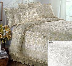 Dantel Yatak örtüsü Ve Yastıkları Yatak Odası Dantel Modelleri