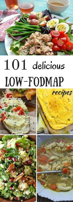 A list of 101 delicious low FODMAP recipes with photos and instructions. All the recipes are easy, and are made with healthy FODMAP ingredients.