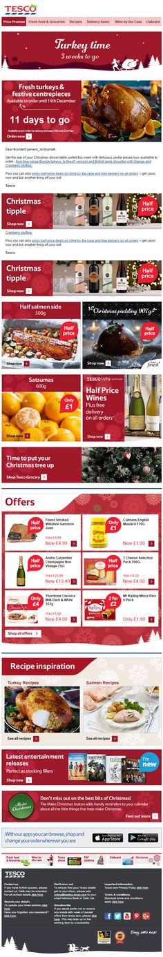 Great animated gif in this Turkey Time email from Tesco. Also, Champagne is only Holiday Emails, Turkey Time, Email Design, Animated Gif, Champagne, Lime, Christmas, Recipes, Xmas