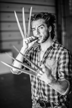 Ilya Artemov as Wolverine. This is spectacular--with some bulking up he could be a stunt double for Hugh Jackman!