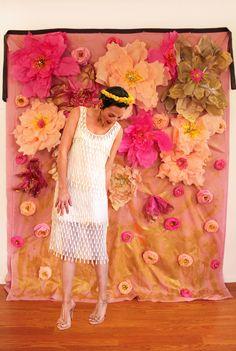 DIY Paper Flower Backdrop