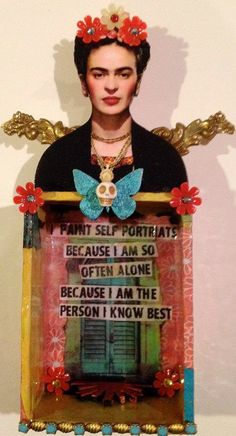 Retro Café Art Gallery: TINY Mermaid Art Doll Kits + a Fun Personal Announcement - nimivo sites Frida Kahlo Artwork, Frida Kahlo Portraits, Frida Art, Mayan Symbols, Viking Symbols, Egyptian Symbols, Viking Runes, Ancient Symbols, Retro Cafe