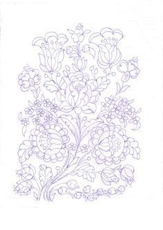 Hungarian Embroidery Resultado de imagen para kalocsai hímzés minta sablon - Border Embroidery Designs, Floral Embroidery Patterns, Hungarian Embroidery, Crewel Embroidery, Applique Templates, Applique Patterns, Stitch Head, Chain Stitch Embroidery, Lesage